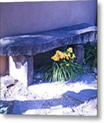 Stone Slab Bench 1 Metal Print