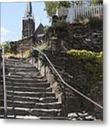 Stone Steps And Saint Peters Church At Harpers Ferry Metal Print
