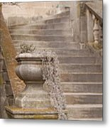 Stone Steps National Cathedral Metal Print