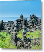 Stone Walls Made By Tourists Metal Print