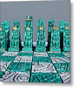 Stoned On Chess Metal Print