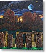 Stonehenge At Cathedral Rock Metal Print