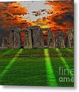 Stonehenge At Solstice Metal Print by Skye Ryan-Evans