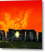 Stonehenge Solstice Metal Print