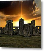 Stonehenge Wiltshire Uk Metal Print