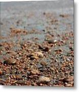 Stones And Waves At Beach  Metal Print