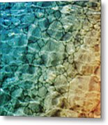 Stones In The Sea Metal Print