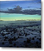 Stones In Water Metal Print by Oscar Karlsson