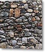Stones Wall Metal Print