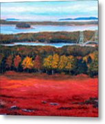 Stonington Bridge In Autumn Metal Print