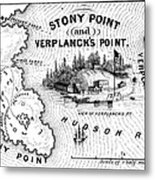 Stony Point Map, 1779 Metal Print by Granger