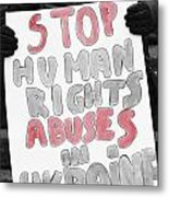 Stop Abuses  Metal Print