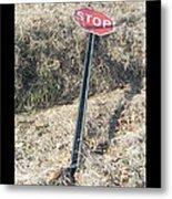 Stop Sign 1 Metal Print