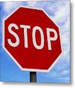 Stop Sign Ireland Metal Print