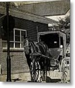 Stopped For A Spell In Sepia Metal Print