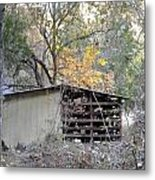 Storage Shed In Color Metal Print