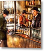 Store - Ah Customers Metal Print by Mike Savad