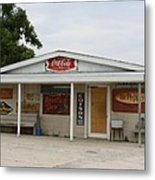 Store Front Of Days Past Metal Print