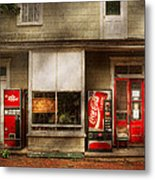 Store Front - Waterford Va - Waterford Market  Metal Print by Mike Savad