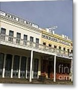 Store Fronts Old Sacramento Metal Print