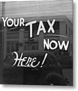 Storefront Sign, 1939 Metal Print