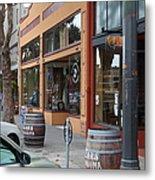 Storefronts In Historic Railroad Square Santa Rosa California 5d25804 Metal Print by Wingsdomain Art and Photography