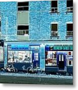 Stores On Ossington In Blue Metal Print