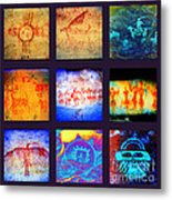 Stories On Stone Metal Print