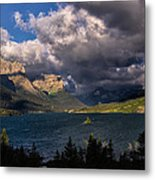 Storm Above St. Mary Lake Metal Print