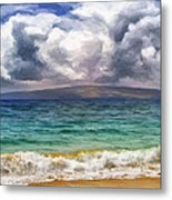 Storm Across The Channel Metal Print