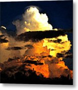 Storm At Dusk Metal Print by David Lee Thompson
