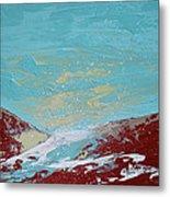 Storm At Red Rock Ridge Metal Print