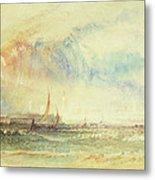 Storm At Sunset, Venice, C.1840 Metal Print