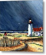 Storm At The Point Metal Print