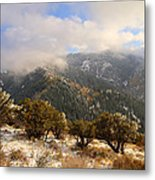 Storm Atop Oquirrhs Metal Print by Chad Dutson