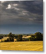 Storm Brewing Over Corn Metal Print
