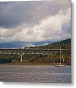 Storm Brewing Over Rip Van Winkle Bridge Metal Print