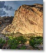 Storm Clouds Above Split Mountain Dinosaur National Monument Metal Print