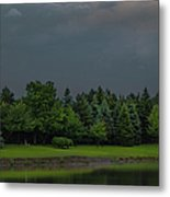Storm Clouds And Trees Metal Print