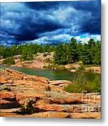Storm Clouds Approaching Chikanashing Metal Print