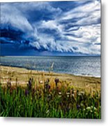 Storm Clouds In Door County Metal Print