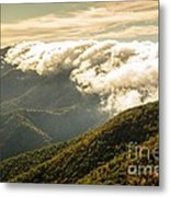 Storm Clouds Moving Out On The Blue Ridge Metal Print