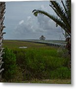 Storm Clouds Near Port Lavaca Metal Print