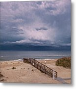 Storm Clouds On The Outer Banks Metal Print