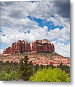 Storm Clouds Over Cathedral Rocks Metal Print