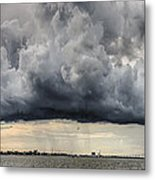 Storm Clouds Over Charleston South Carolina Metal Print