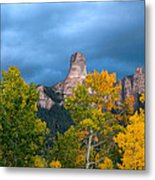Storm Clouds Over Chimney Rock Metal Print