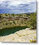 Storm Clouds Over Montezuma Well Metal Print