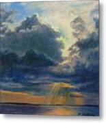Storm Clouds Over P-town Metal Print