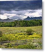 Storm Clouds Over The Rockies Metal Print
